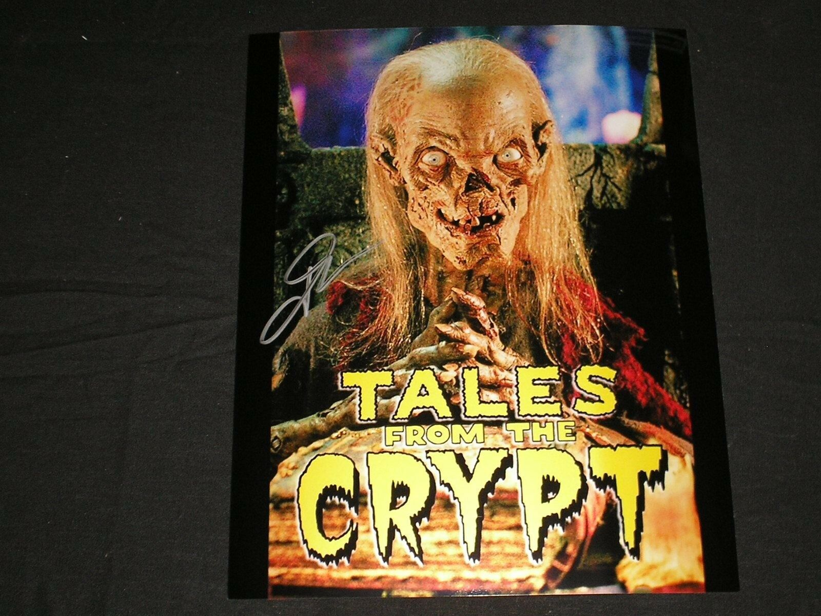 John Kassir Signed Cryptkeeper 8x10 Photo Tales Of The Crypt