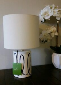 Details About New Kate Spade York Charlotte Street Navy Swirl Table Lamp With Shade