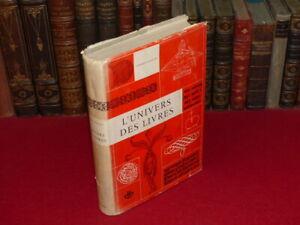 ALBERT-FLOCON-L-039-UNIVERS-DES-LIVRES-Etude-Historique-Origines-a-fin-XVIIIe-1961