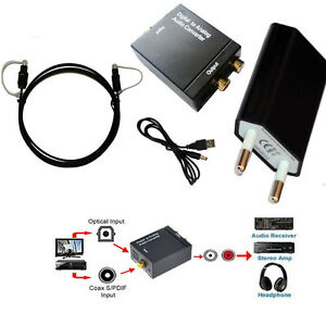 optische optisch koaxial toslink spdif digital analog audio converter adapter lr ebay. Black Bedroom Furniture Sets. Home Design Ideas