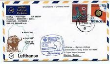 FFC 1968 Lufthansa First Flight LH 590 Frankfurt Munchen Cairo Khartum Entebbe