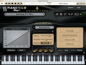 virtual piano with notes