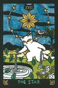 Details about Cat Tarot 22 cards Deck Carot Card Naomi Shoufu Rare