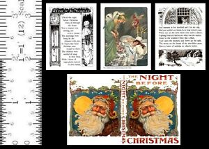 1:12 SCALE MINIATURE BOOK THE NIGHT BEFORE CHRISTMAS 1900 DOLLHOUSE SCALE