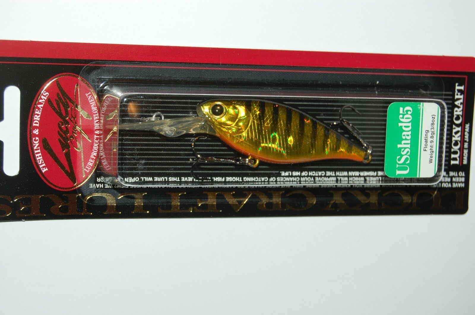 Lucky Craft Japon Tecni SHAD 60SP 00100596 Appât Poisson Argent