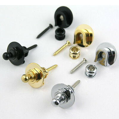 Professional Spring Loaded Bass or Guitar Straplocks SP16