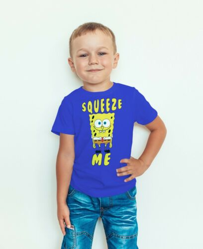 Kids Quality T-shirt Short Sleeve Top SpongeBob Squeeze Me Funny Boys