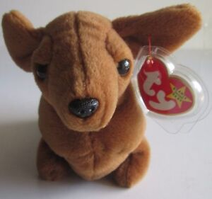 WEENIE the DACHSHUND~TY BEANIE BABY~DATE OF BIRTH 7-20-95