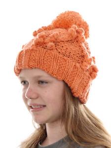 O`neill Beanie Strickmütze Kopfbedeckung Santa Ana Orange Bommel Bund Um Eine Reibungslose üBertragung Zu GewäHrleisten Kindermode, Schuhe & Access. Kleidung & Accessoires