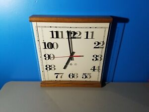 Retro-Peter-Pepper-Products-PPP-Wall-Clock-Acrylic-Cover-Medium-Oak-377KR