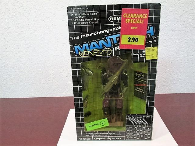 1983 MANTECH ROBOT WARRIORS  NEGA TECH  FIGURE MINT SEALED UNPUNCHED REMCO