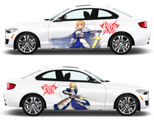 Fate Stay Night Saber Anime JDM Anime Car Window Decal Sticker 013