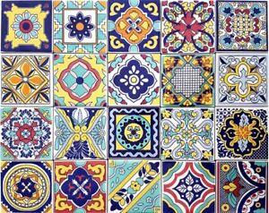 Piastrelle Di Ceramica Decorate.Dettagli Su Ceramica Vietri Patchwork Piastrelle 10x10 Decorate Con Serigrafia A Mano 100pz