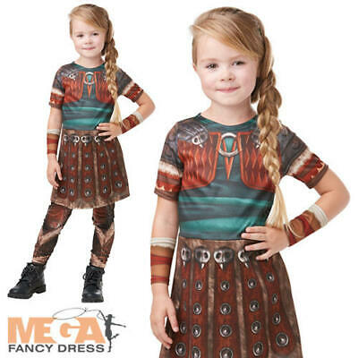 Girls Astrid Fancy Dress How To Train Your Dragon Character Kids Costume Outfit