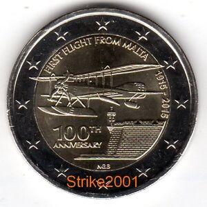 2 Euro Commemorativo Malta 2015 Primo Volo