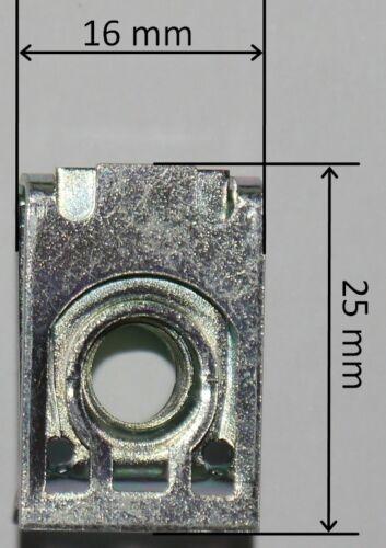 CLIP SCHNAPPMUTTER M8 METRISCHE GEWINDE NEU 25 BLECHMUTTER VERKLEIDUNGSCLIPS