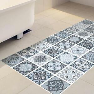Details About 60 120cm Anti Slip Waterproof Grey Moroccan Tile Floor Stickers Home Decor