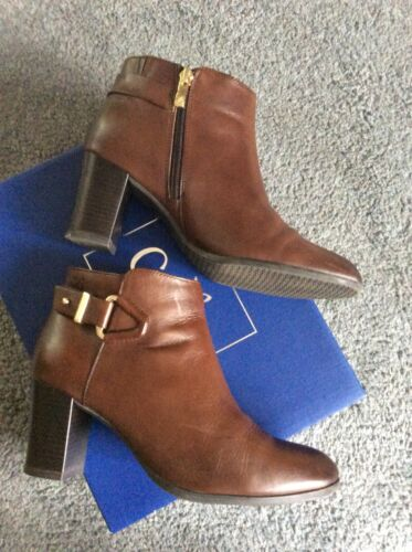 4 Brown Leather Boots Caprice Uk Ankle 2 1 ZqXf4w64P