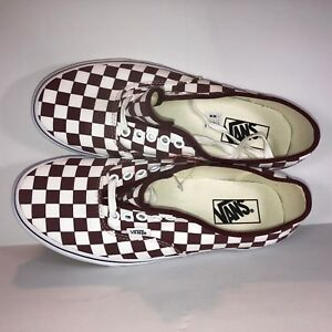 6047bff841 Image is loading VANS-Authentic-Checkerboard-Port-Royale-Burgundy-White -Shoes-