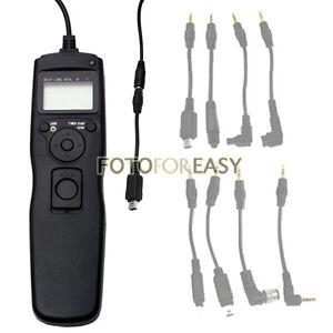 Temporizador-remoto-Desmontable-Cable-Disparador-Para-Olympus-E30-E450-E520-E420-E600-E620-Uc1