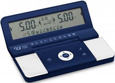 Contemplativo Scacchi-orologio Digitale: Dgt Travel Timer, Blu/bianco-nuovo/scatola Originale-mostra Il Titolo Originale