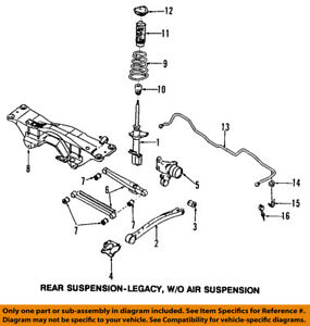 image is loading subaru-oem-98-02-forester-rear-suspension-frame-
