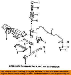 Subaru Oem 98 02 Forester Rear Suspension Frame Crossmember