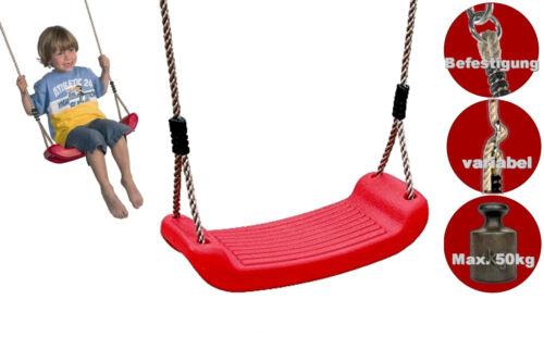 LoggyLand Kinderschaukelsitz rot Schaukelsitz Kinderschaukel Kunststoff Schaukel