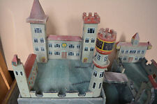 Ritterburg Burg Knight's castle Holz um 1920 good condition toy castle IVANHOE