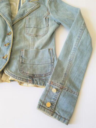 Sean veste bordure jean en manteau pour décontracté dorée Combs bouton femme jean rrTgq