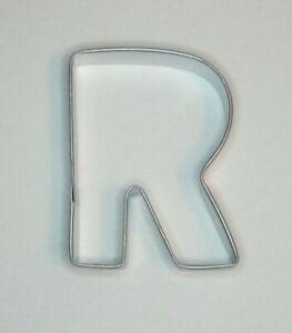 3 Sizes Fondant Varsity Letter R Cookie Cutter Alphabet Biscuit Cutter