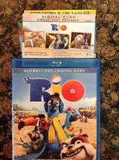 Rio (Blu-ray/DVD,2011,3-Disc,Digital Copy) Authentic US Release Scratch Free
