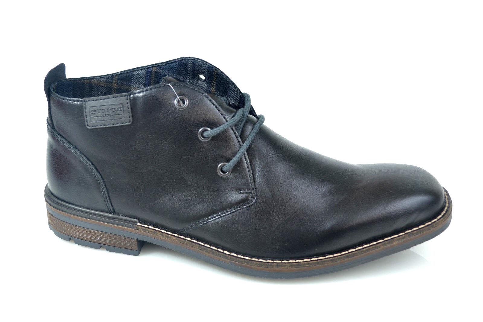 Rieker Comfort Uomo Boots Stivali Scarpe Alla Moda Nero NUOVO Taglia 41 - 46 NUOVO Nero 4b0b35