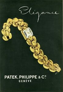 """""""patek, Philippe & C°"""" Annonce Originale Entoilée Plaire 1945 J. Suter 25x34cm Wg1aflre-08012204-532879042"""