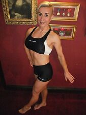 BNWT Orca triathlon corsa nuoto bici Run Crop Top, Reggiseno sportivo, Lycra ~ UK 14