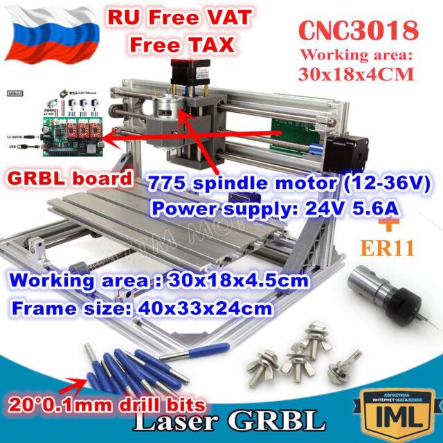 3 axis 3018 diy mini grbl control laser machine pcb pvc milling wood【us rus】3 axis 3018 diy grbl control mini laser milling machine wood