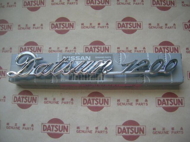 DATSUN 1200 Trunk Lid Emblem Boot Badge Genuine (Fits NISSAN B110 B120 B122 Ute)