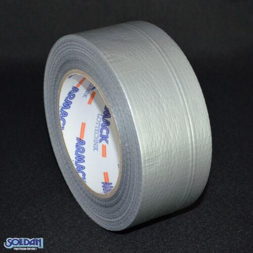 Panzertape 45m x 48mm 175mµ Gewebeband Silber Reparaturband Steinband Tape