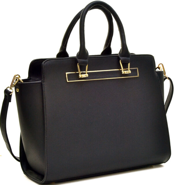 aa6d4485b2 Buy Dasein Faux Leather Winged Satchel Gold Tone Lady Handbag With ...
