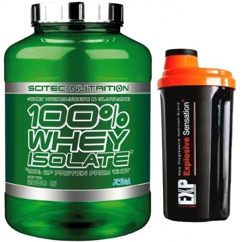 Scitec Nutrition 100% Whey Isolate 2000g Eiweiß + Hydrolysat TOP Protein + Eiweiß BONUS f48b1b
