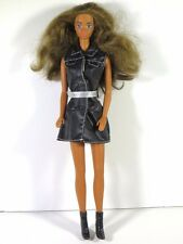 DRESSED BARBIE DOLL PJ IN BLACK DRESS AND SHOES