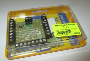 Model-Railway-Distributor-with-Status-LED-S-26-Clamps-Finished-Module-gt-New