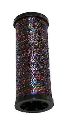 9990 Nähmaschinen Glanz-Effektfaden regenbogen bunt 50 m