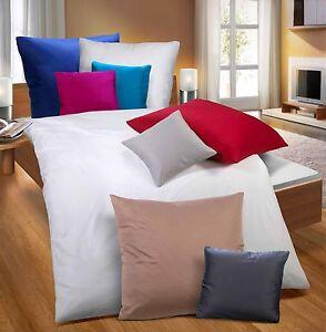 biberna bettw sche gots uni satin 100 bio baumwolle kba neu ebay. Black Bedroom Furniture Sets. Home Design Ideas