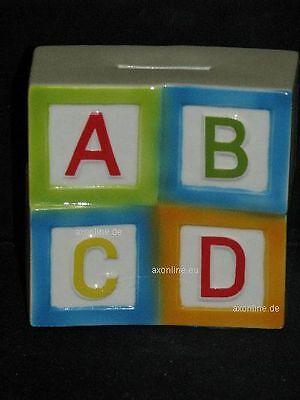 +# A004397_08 Goebel Archiv Muster Spardose Savings Box Abc Würfel 50-123 Attraktive Mode