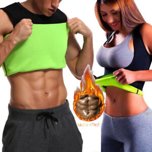 9f0e29297ea233 Men Neoprene Vest Cami Hot Shaper Gym Women Sauna Sweat Thermal Tank ...