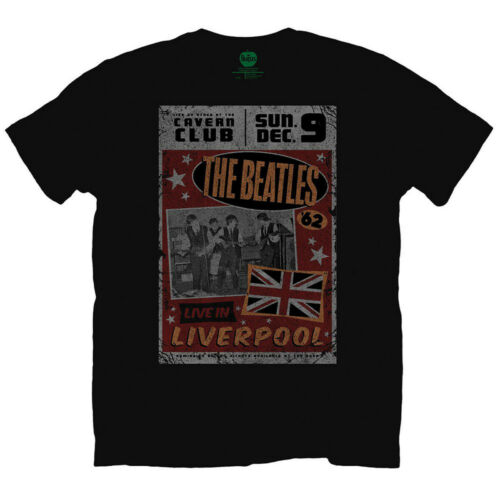 The Beatles Live at the Cavern Club John Lennon Official Tee T-Shirt Mens Unisex