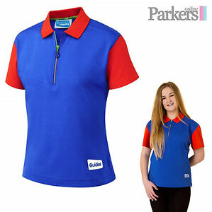 Details about BRAND NEW GIRL GUIDES OFFICIAL UNIFORM POLO SHIRT NEW DESIGN  ROYAL BLUE RED