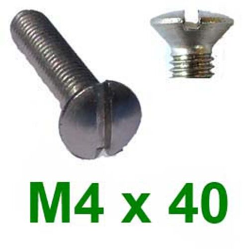 4mm x 40mm Raised Csk x20 M4 x 40 Stainless Raised Countersunk Machine Screws