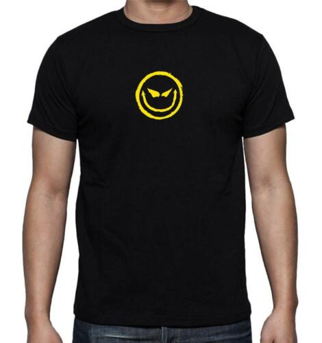 New FOR Men/'s Printed Evil grin smiley face smile FUNNY MMA COTTON TEE SHIRT